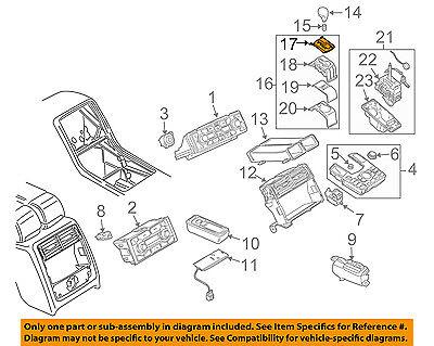 AUDI OEM 04-10 A8 Quattro Center Console-Shift Plate 4E1713110