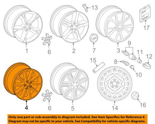 AUDI OEM 12-16 A7 Quattro-Wheel-Alloy Aluminum 4G8601025AF