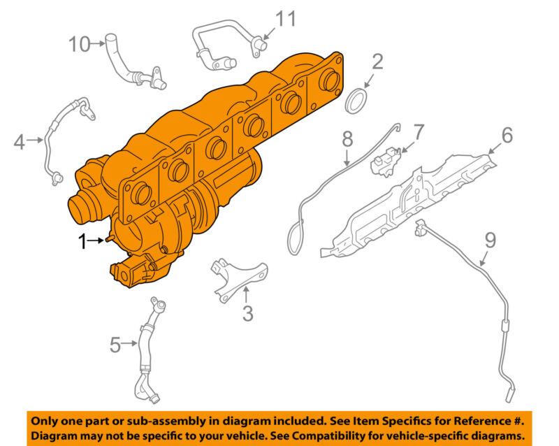 Bmw Oem 07-13 328i-turbocharger Turbo 11657636424