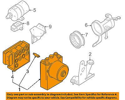 BMW OEM 99-01 750iL ABS Anti-Lock Brake System-Control Module 34516769536