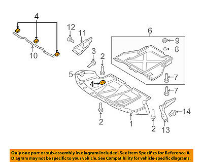 AUDI OEM 14-15 R8 Splash Shield-Rear Deflector Nut 8D0805960