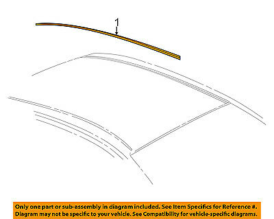 Cadillac GM OEM 03-07 CTS-Roof Molding Trim Right 25741458