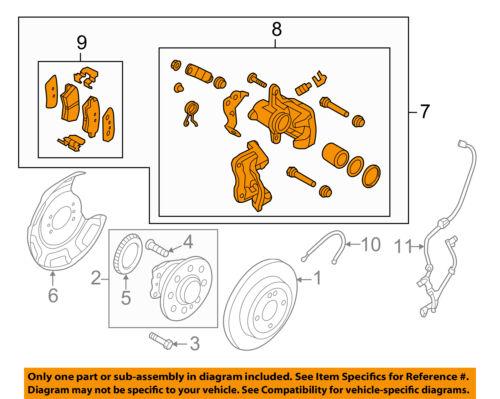 Rear Genuine Hyundai 58300-A5300 Disc Brake Assembly Left