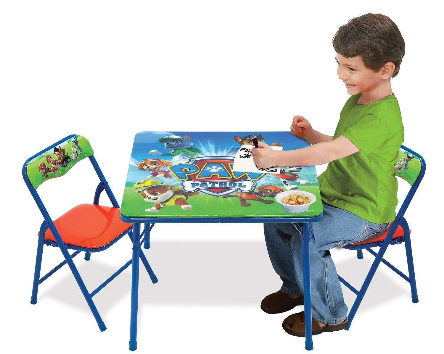 Paw Patrol Table Set Two Chairs Arts and Crafts Indoor Outdo