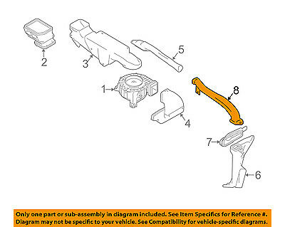 Infiniti NISSAN OEM 12-13 M35h Electrical-Outlet Duct 967341MG0A