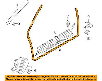 BMW OEM 01-06 325Ci Interior-Door Weatherstrip Seal 51718233415