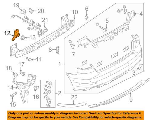 Genuine New Rear Bumper Bracket Left For AUDI A3 04-13 8P3807329
