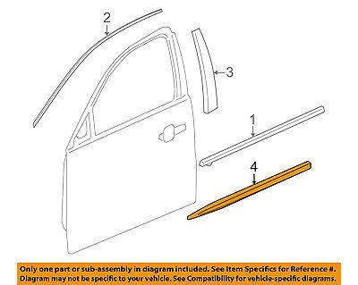 Buick GM OEM 10-16 LaCrosse FRONT DOOR-Body Side Molding Left 20902217