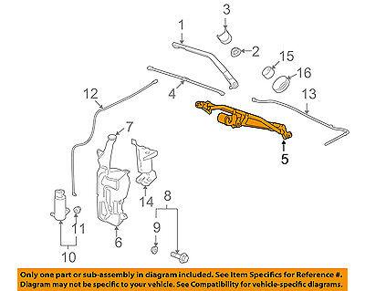 GM OEM Front Windshield Wiper Motor 23328193