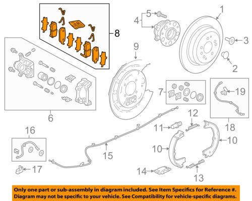 HONDA OEM Brake-Rear Pads 43022TZ5A01