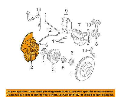 Bmw Brake Backing Plate - BMW OEM M3 Disc Brake-Front-Backing Plate Dust Splash Shield Left 34112282109