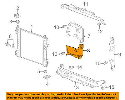 Chevrolet GM OEM 13-14 Spark 1.2L-L4 Radiator-Side Baffle Right 95093020