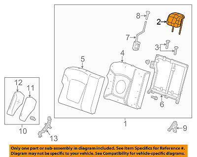 Chevrolet GM OEM 13-15 Spark Rear Seat-Headrest Head Rest 95063844