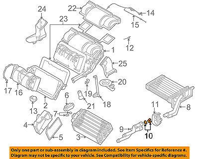 BMW OEM 00-03 Z8 5.0L-V8 Evaporator Heater-Water Pipe Seal 64118398888