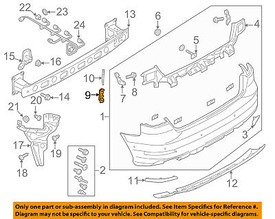 AUDI OEM 15-16 A3 Rear Bumper-Guide Left 8V5807571