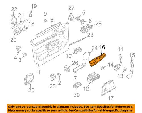 vw volkswagen oem 10 14 jetta front door cover left 1k4868049c81u ebayblack, 16 in the diagram, genuine oe