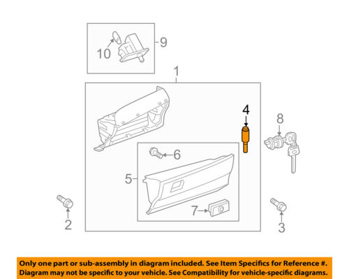 2011 camry engine compartment diagram toyota oem 07 11 camry glove compartment box damper shock strut  box damper shock strut