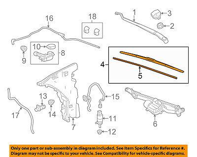 Cadillac GM OEM 14-17 CTS-Wiper Blade 84017838