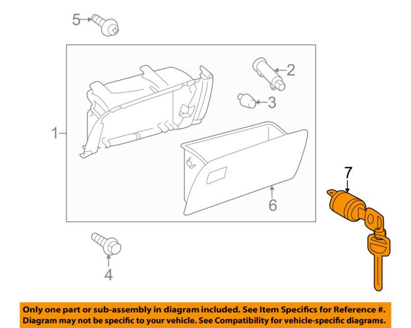 Toyota Oem Instrument Panel Dash Glove Box Compartment-lock Cylinder 6905608020