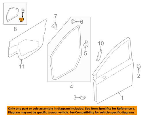 SUBARU OEM 13-15 XV Crosstrek Front Door-Pad Clip 909130241