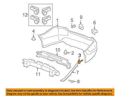 HONDA OEM Rear Bumper-Bumper Cover Screw 90103TA0000