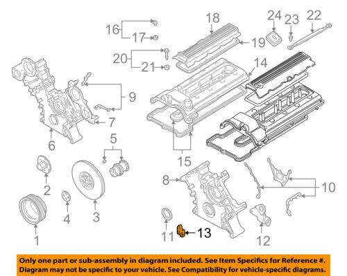 BMW OEM 00-03 M5 5.0L-V8 Engine-Lever 11141407747