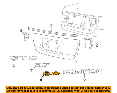 Pontiac GM OEM 05-06 GTO Trunk Lid-Emblem Badge Nameplate 92162158 for sale  Shipping to Canada