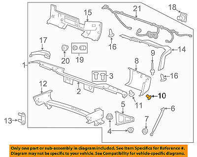 GM OEM Rear Bumper-End Cap Bolt 11519388