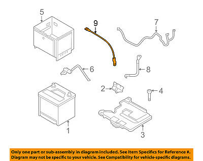 HYUNDAI OEM 2012 Accent Battery-Negative Cable 918601R200