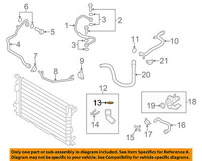 AUDI OEM 09-18 A6 Quattro 3.0L-V6 Cooling-Lower Hose Seal 4E0121666