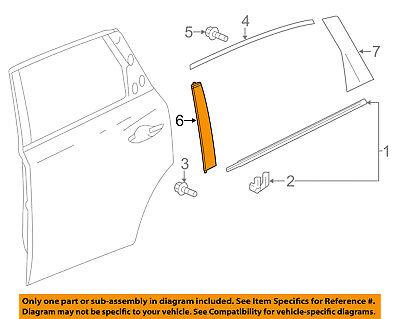 Acura HONDA OEM 14-16 MDX Exterior-Rear-Applique Window Trim Right 72930TZ5A11ZA