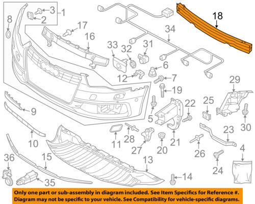 AUDI OEM 12-16 A6 Quattro Front Bumper-Impact Reinforcement Bar Rebar