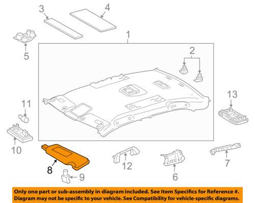 TOYOTA Genuine 74320-06611-A4 Visor Assembly