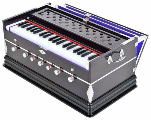 7 Stopper,Double Bellow,39 Key,Two Reed(Bass-Male) Harmonium With Cover FShip