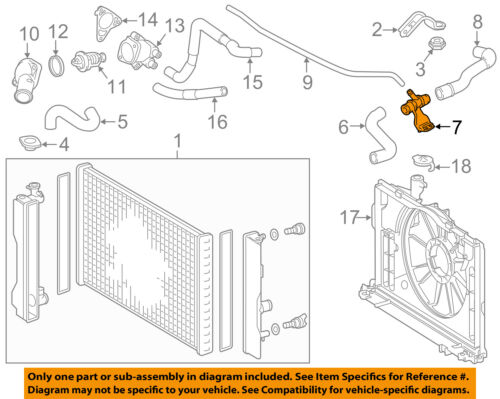TOYOTA OEM 09-17 Corolla 1.8L-L4 Radiator-Connector Pipe 165770T030   eBayeBay
