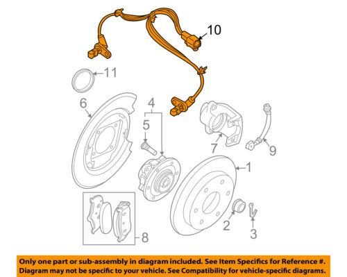 ABS Wheel Speed Sensor Rear Autopart Intl fits 05-12 Nissan Pathfinder