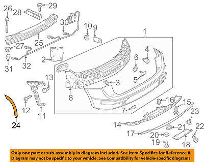 AUDI OEM 09-16 Q5 Rear Bumper-Fender Wheel Flare Molding Right 8R0853828C4U8