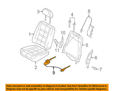 FORD OEM Front Seat-Seat Adjuster 5F9Z7462648AA