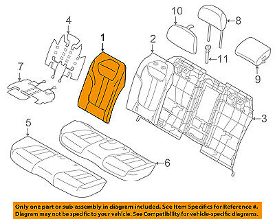 BMW OEM 16-17 750i xDrive Rear Seat-Seat Cover-Top Back Right 52207413352