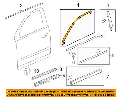 GM OEM Front Door-Reveal Molding Left 25975013