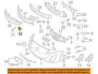 MAZDA OEM 10-13 3 Front Bumper-Center Support BBM450AD1A