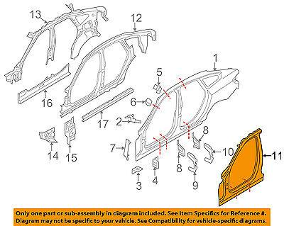 BMW OEM 428i Gran Coupe Pillars, Rocker Floor-Aperture Panel Right 41007334020