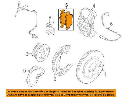 BMW OEM 12-13 128i Brake-Front Pads 34116797860