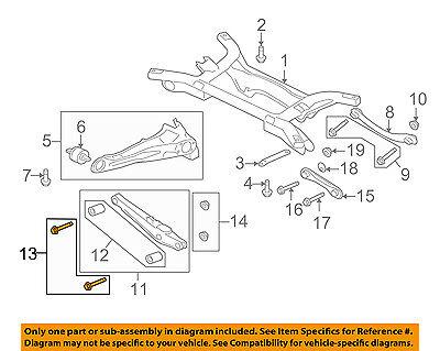 MITSUBISHI OEM 08-17 Lancer Rear Suspension-Upper Control Arm Bolt MU000760