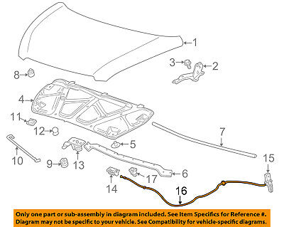 Chevrolet GM OEM 15-16 Spark EV-Hood Release Cable 94544854