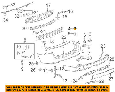 GM OEM Rear Bumper-Bumper Cover Nut 25704358