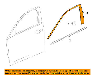Cadillac GM OEM 14-18 CTS Front Door-Reveal Molding Right 23337422
