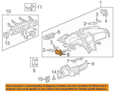 Chevrolet GM OEM 09-12 Traverse Dash AC A/C-Heater Air Vent Left 22812163
