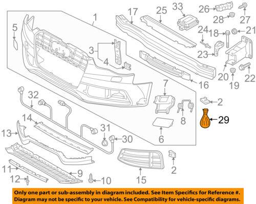 AUDI OEM 13-15 RS5 Front Bumper Grille Grill-Hardware Kit 8K0098623