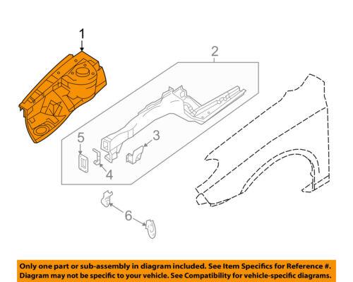 2002-2006 TOYOTA CAMRY FRONT RIGHT FENDER APRON SPLASH SEAL 53736-06030 RH OEM